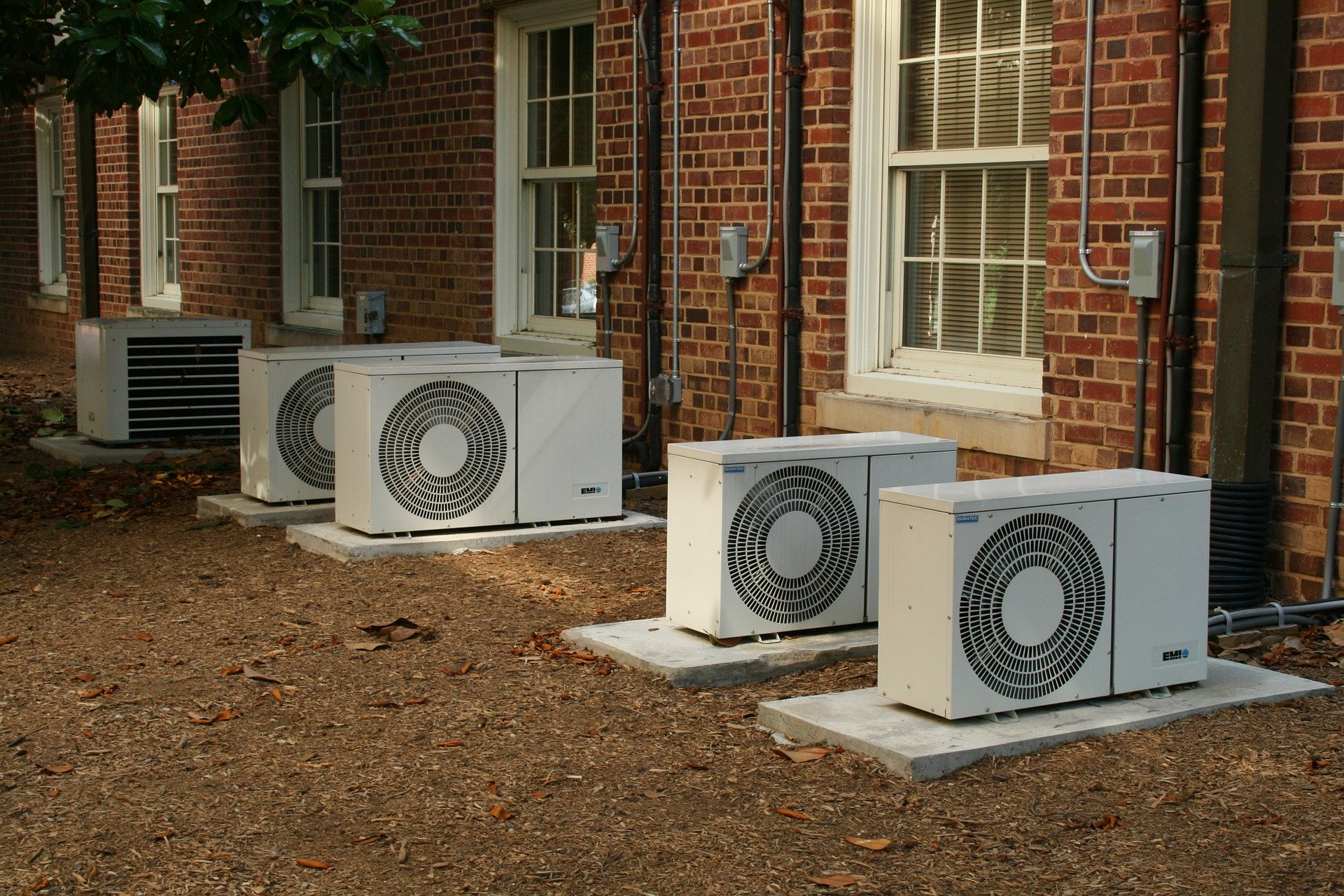 a picture showing air conditioning units